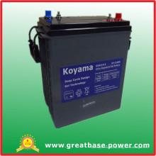 Bateria profunda terminal automotivo 310ah 6V do carro de golfe do gel do ciclo