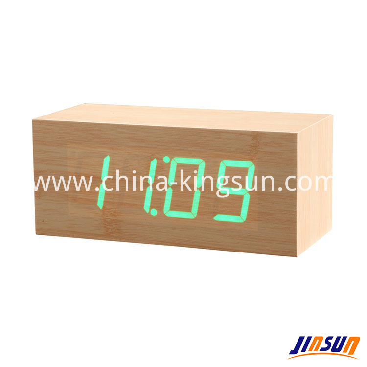 Wood Led Clock 106 20