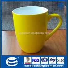 Caneca nova amarela vitrificada da pérola da porcelana