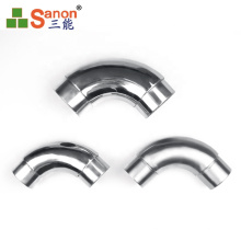 Stainless Steel 90 Degree Elbow Thickness 0.25mm - 3mm For Interior Decoration