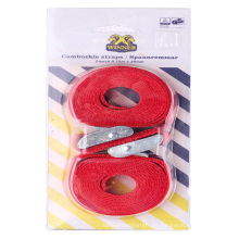 Amazon Hot Sale Blister Clamp Buckle Ratchet tie down with 2 Packs