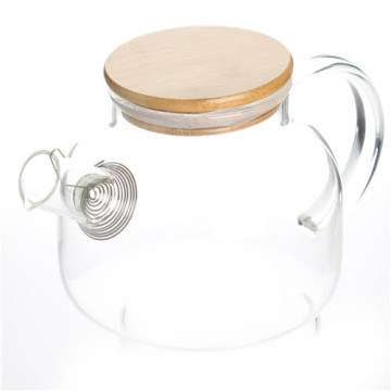 Good Quality for China Supplier New Design Water Pitcher,Lid Glass Water Pitcher,Antique Glass Water Pitcher Borosilicate Glass Teapot With Bamboo Lid export to Bahrain Suppliers