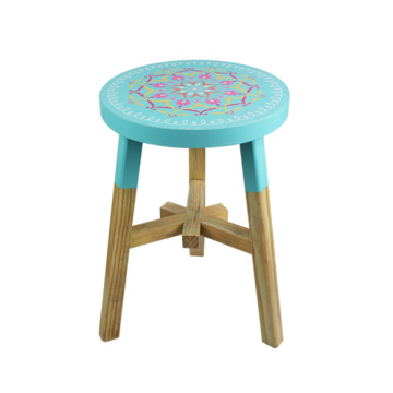 Light blue color  India and Pakistan printing design stool