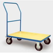 Carrinho de mão de plataforma de madeira