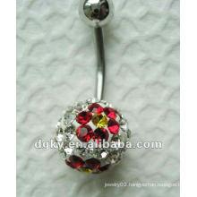 stainless steel body piercing jewelry,Fancy belly button dangle