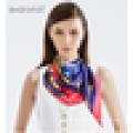 Serigrafia impressão de seda cachecol fresco novo design cachecol de boa qualidade por atacado