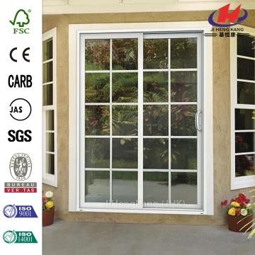 Sand Prehung Sliding 10 Lite Vinyl Patio Door