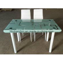 Современной закаленное стекло столовая набор таблиц