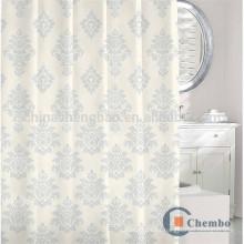 100 cortinas de ducha jacquard de poliéster con varilla ovalada
