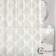 100 polyester jacquard shower curtains with oval rod