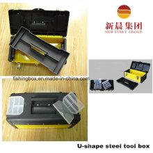 U Shape Black & Yellow Color Steel Tool Box