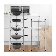 2/3/4/5 Layers Kitchen Stainless Hanging Pot Rack