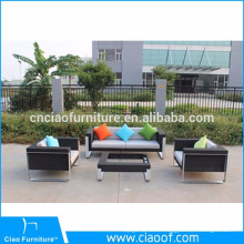 Hot selling outdoor furniture 4pcs PE rattan popular sofa set