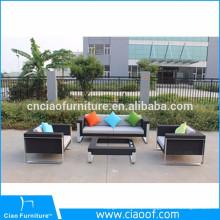 Venda quente de móveis ao ar livre 4 pcs PE rattan sofá popular set