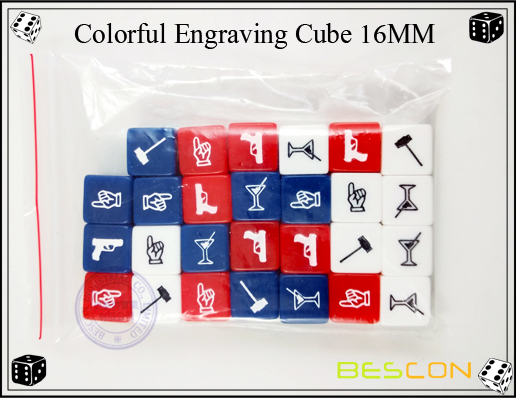 Colorful Engraving Cube-2