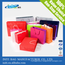 2015 New fancy customized logo printed high quality foldable shopping paper bag