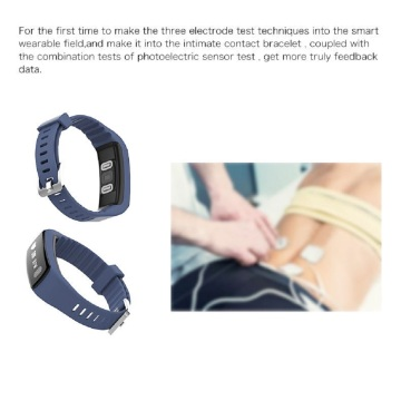 Capacitive Touch Screen ECG Bracelet