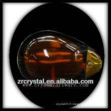 K9 Lustre en cristal rouge et jaune