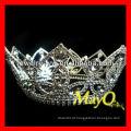 Full Round Crystal Queen coroa de pageant, coroas atacado representação e tiaras, coroas redondas à venda
