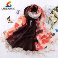 2015 Bufandas de colgante de color sólido Forme la bufanda de la borla Pashmina Cashmere Shawl abrigo Mujeres Niñas Bufanda Accesorios