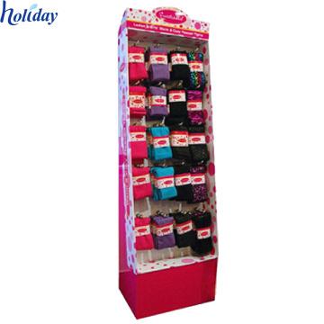 Soportes de exhibición de los calcetines de la cartulina, calcetines de la forma de gancho de la cartulina Exhibición de estante
