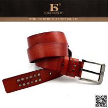 Cinturones de cuero para hombre de encargo del diseño de la manera del nuevo estilo