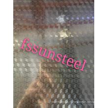 tôles en acier inoxydable gaufrées (cube)
