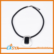 Gemstone Jewelry Fancy Black Stone Pendant Necklace