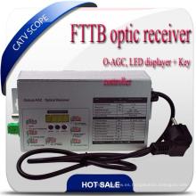 FTTB CATV Receptor óptico de fibra óptica con O-Agc