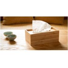Solid Natural Bamboo Napkin Holder Bamboo Tissue Box