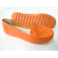 Classic Comfort Lady Shoes with Flat TPR Outsole (SNL-11-006)