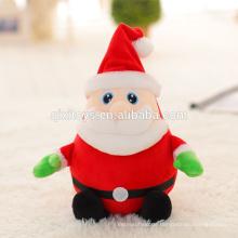 Cute Plüsch Spielzeug Weihnachten Musical Santa mit Licht
