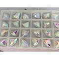 Perles de verre à dos plat avec trou