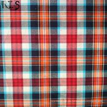 La tela tejida hilado del popelín de algodón teñió para las camisas / el vestido Rls40-43po de la ropa