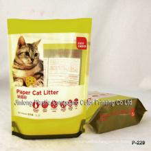Plastic Zipper Cat Litter Bag Stand up Bag