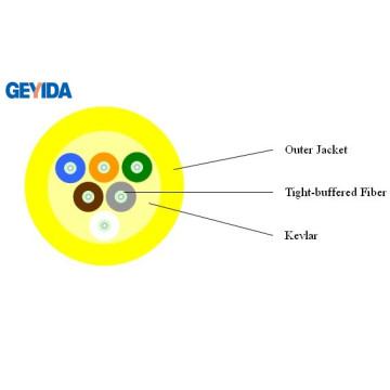 Câble fibre optique à distribution interne 6 Core