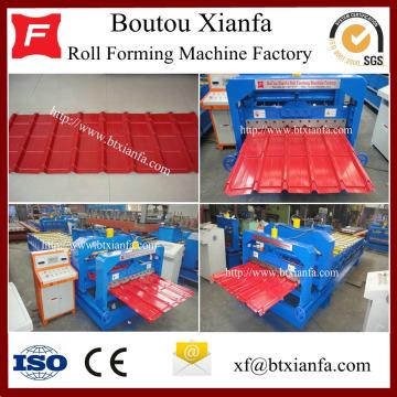 Passo da telha telhadura do Metal de folha corrugação máquina