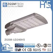 Waterproof 240W Street Lighting LED Luminaires with