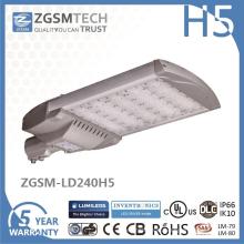 Luminaires impermeáveis do diodo emissor de luz da iluminação de rua 240W com