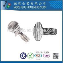 Taiwan Edelstahl 18-8 verchromter Stahl vernickelter Stahl Kupfer Messing Typ AB regelmäßige Daumenschraube