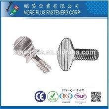 Taiwan Stainless steel 18-8 Chrome plated steel Nickel plated steel Copper Brass Type A B Regular Thumb Screw