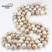 47 дюймов длинное современное ожерелье жемчуга дизайн 11-13 мм AA Эдисон большое жемчужное ожерелье