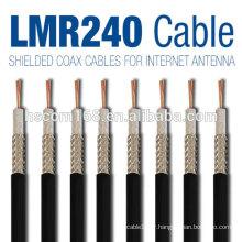 Câble coaxial rg9 / rg6 / câble coaxial rg48 / rg58 / rg59 / rg123 avec connecteurs de câble coaxial