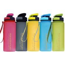 Customized Hot Sale Matt Plastic Sport Water Bottle with Rope