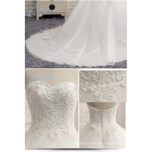 Plus Size Sweetheart A-Line Court Train Beaded Ruffles New Wedding Dress