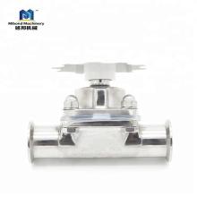 Заводская цена Нержавеющая сталь 304 / 316L Санитарный мембранный клапан
