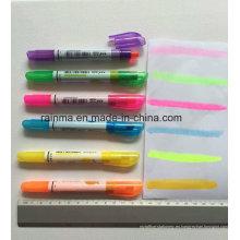 Marcador sólido fluorescente con color brillante y escritura suave