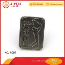 Matériau en alliage de zinc petit logo gravé Charms de logo en métal sur mesure