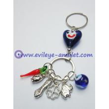 Handmade Turkish evil eye keychain blue eye