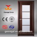 CE Veneerd wooden interior doors with glass inserts